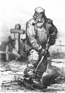 """Vasnetsov's """"Gravedigger"""""""