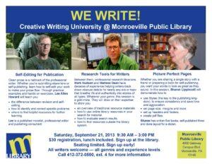 WE WRITE, Sept. 21, 2013