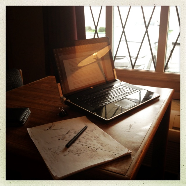 Writing at the Super 8 Motel