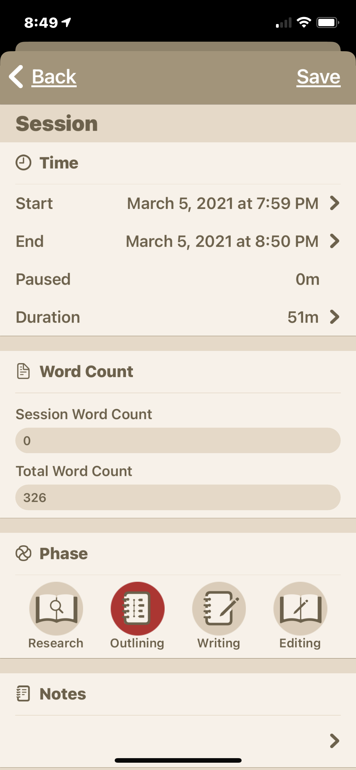 WordKeeper Session